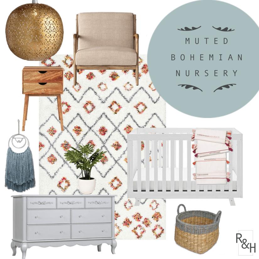 Muted Bohemian Nursery – The Before & DesignPlan