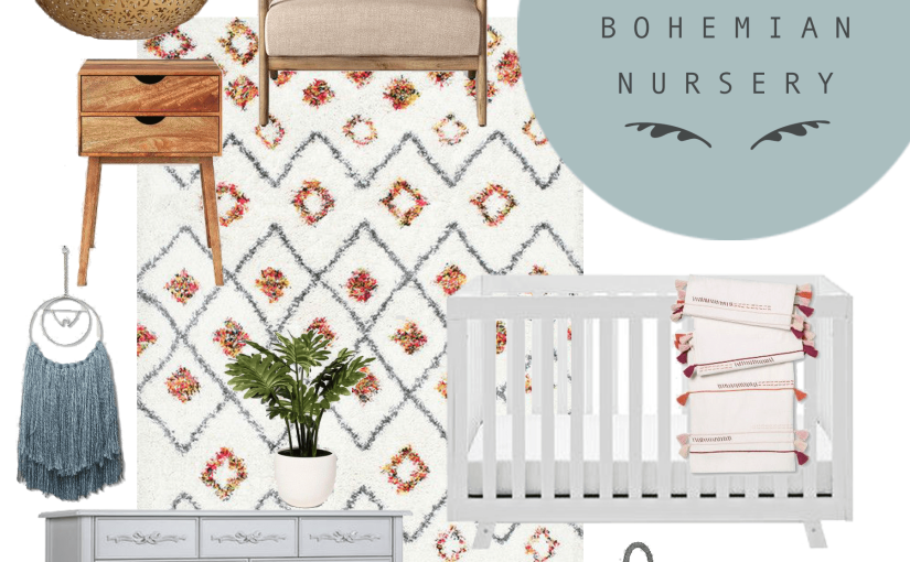 Muted Bohemian Nursery – The Before & Design Plan